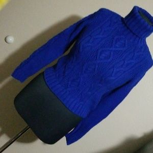 Ralph Lauren Royal Blue Cable Knit Sweater
